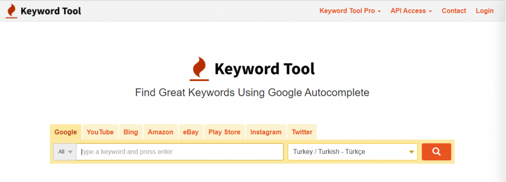 Digital marketing tools-Keyword Tool